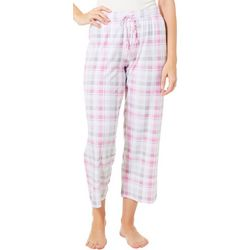 COOL GIRL Womens Plaid Print Pajama Capris