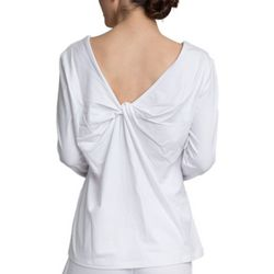 Goodnight Kiss Womens Live To Lounge Twist Front Pajama Top