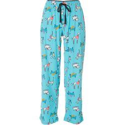 Goodnight Kiss Womens Dog Print Pajama Pants