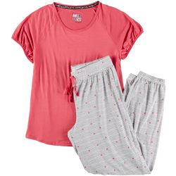 Muk Luks Womens Stars & Stripes Pajama Jogger Set