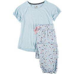 Muk Luks Womens Sunglass Print Pajama Jogger Set