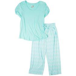 Muk Luks Womens Floral Pajama Pants Set