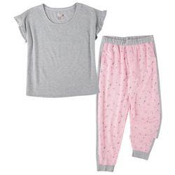 Muk Luks Womens 2-pc. Mini Floral Pajama Set