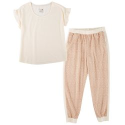 Muk Luks Womens 2-pc. Diamonds Pajama Set
