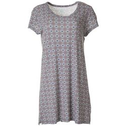 COOL GIRL Womens Tile Print T-Shirt Nightgown