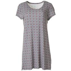 Womens Tile Print T-Shirt Nightgown