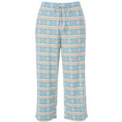 COOL GIRL Women's Fashion Geometric Tile Print Pajama Capris