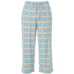 Women's Fashion Geometric Tile Print Pajama Capris