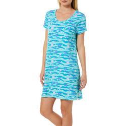 Womens Shells and Flip Flops T-Shirt Nightgown