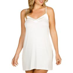 Cozy Rosy Womens Solid Chemise Nightgown