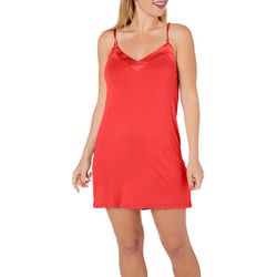 Cozy Rozy Womens Solid Chemise Nightgown