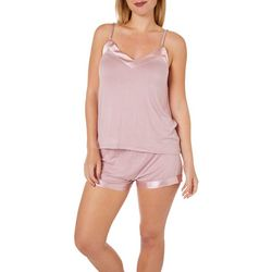 Cozy Rosy Womens Solid Chemise Pajama Set