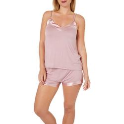 Cozy Rosy Womens Solid Chemise Pajama Set