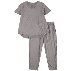 Cozy Rozy Womens 2-Pc Pajama Tee & Capri Set