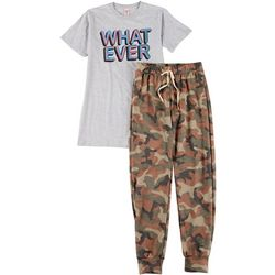 Cozy Rozy Girls Whatever Camo 2-Pc. Pajama Pants Set