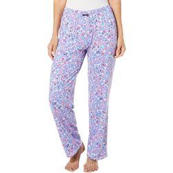 Ellen Tracy Womens Ditsy Floral Print Pajama Pants