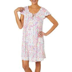 Company Ellen Tracy Womens Paisley Print Nightgown