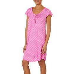 Company Ellen Tracy Womens Medallion Print Nightgown