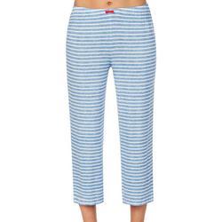 Womens Striped Knit Pajama Pants