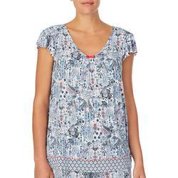 Womens Paisley Pajama Top