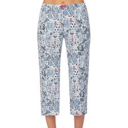 Womens Paisley Pajama Capris