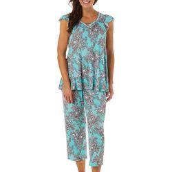 Ellen Tracy Womens Paisley Print  Pajama Capris
