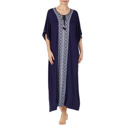 Ellen Tracy Womens Boho Long Kaftan Nightgown