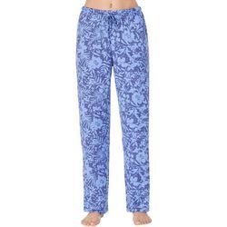 Ellen Tracy Womens Tropical Floral Pajama Pants