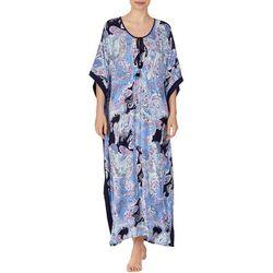 Ellen Tracy Womens Boho Paisley Long Kaftan Nightgown