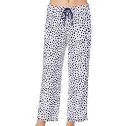 Womens Spotted Print Ankle Pajama Pants