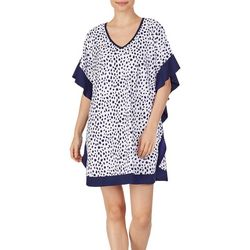 Womens Dot Print Short Kaftan Top