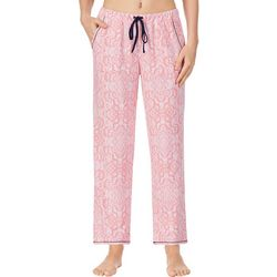 Ellen Tracy Womens Paisley Print Ankle Pajama Pants