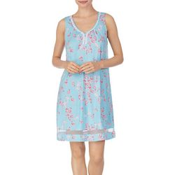 Ellen Tracy Womens Flamingo  Print Sleeveless Nightgown