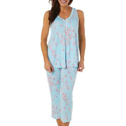 Ellen Tracy Womens Flamingo Print Pajama Set