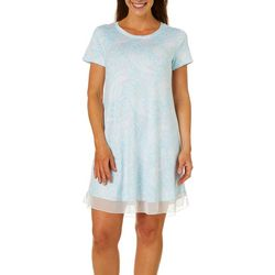 Ellen Tracy Womens Paisley Short Sleeve Nightgown