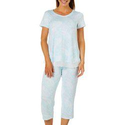 Ellen Tracy Womens Paisley Print Pajama Capris Set