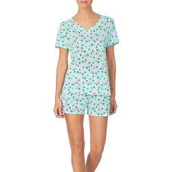 Cuddl Duds Sleepwear Womens Birds Of Paradise Pajama  Set