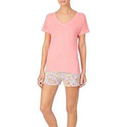 Cuddl Duds Sleepwear Womens Pineapple  Pajama Set