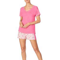 Cuddl Duds Sleepwear Womens Flamingo Pajama Set