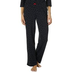 Ellen Tracy Womens Scattered Dots Long Pajama Pants