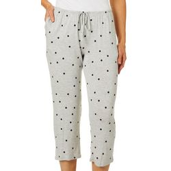 Ellen Tracy Womens Essentials Polka Dot Pajama Capris