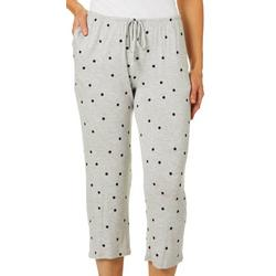 Womens Essentials Polka Dot Pajama Capris