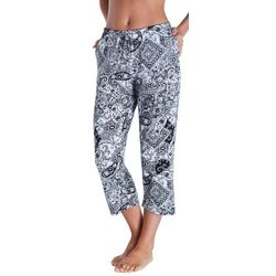 Ellen Tracy Womens Essentials Mixed Pajama Capris
