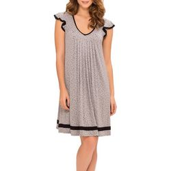 Ellen Tracy Womens Essentials Dot Print Nightgown
