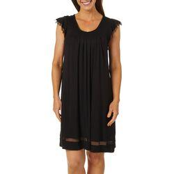 Ellen Tracy Womens Essentials Solid Short Sleeve Nightgown