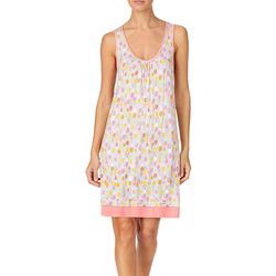 Cuddl Duds Sleepwear Womens Pineapple Print Nightgown