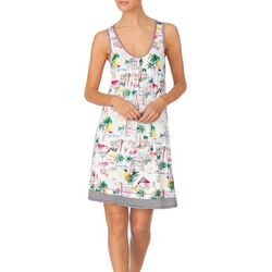 Company Ellen Tracy Womens Vacation Print Nightgown