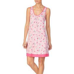 Cuddl Duds Sleepwear Womens Flamingo Print Nightgown