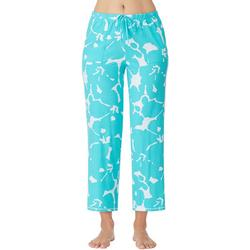 Womens Hibiscus Print Pajama Pants