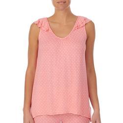 Womens Pin Dot Pajama Top